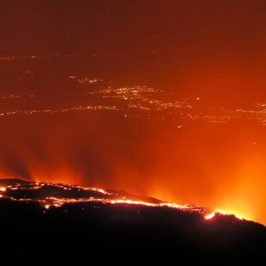 Etna by night